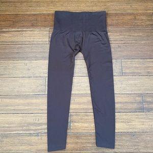 Women's 2X/3X French Laundry Brown Fleece Leggings